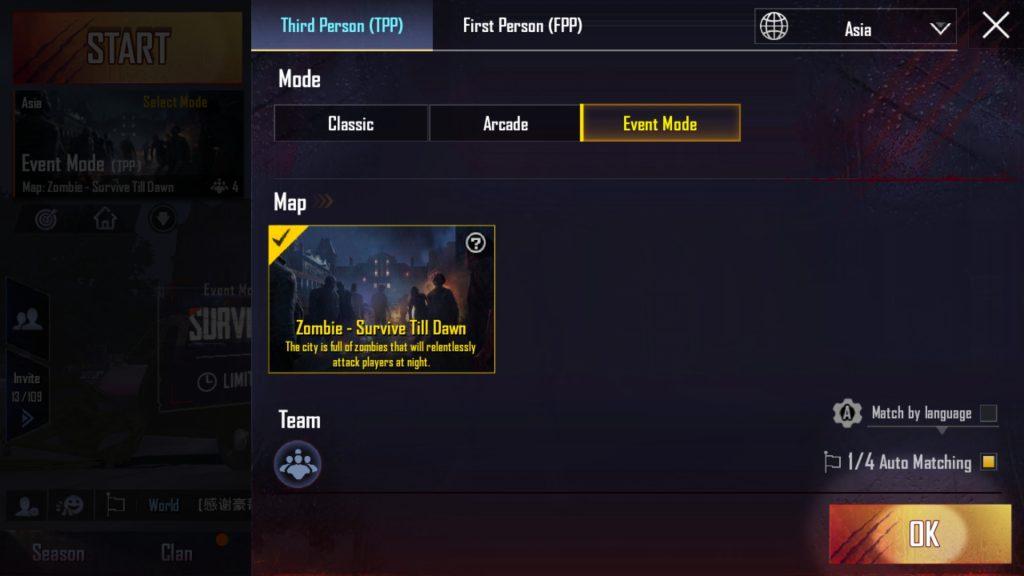 pubg zombie mode event
