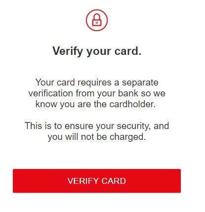 Netflix Card Verification